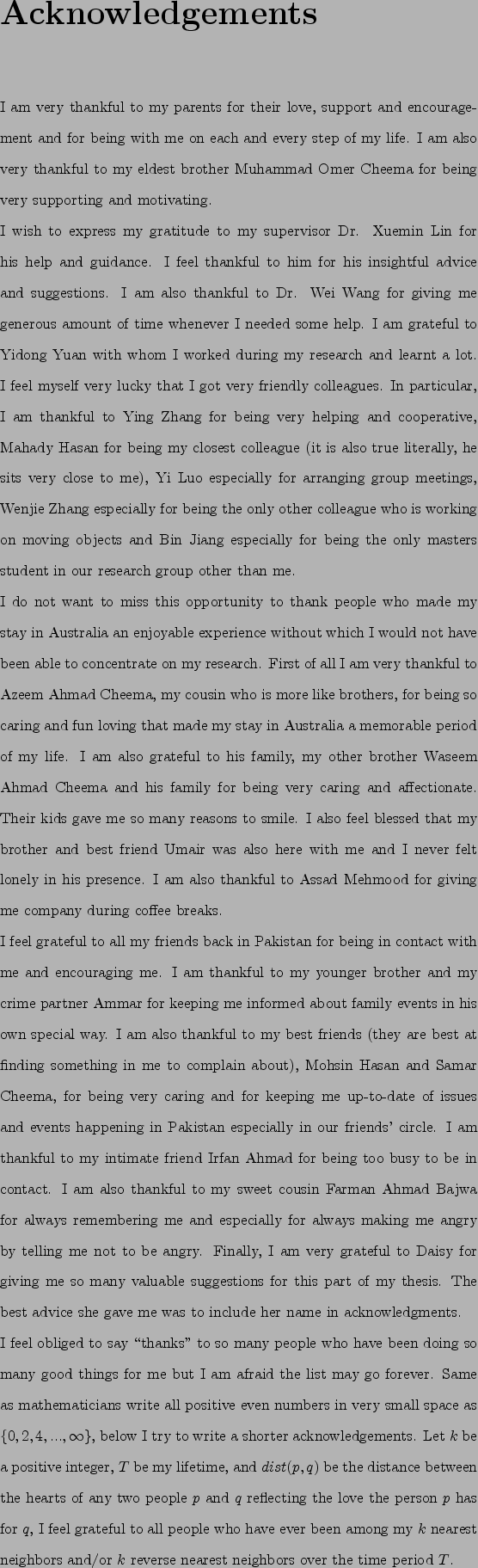 thesis acknowledgement parents Acknowledgements the work presented in this thesis would not have been possible without my close sense of gratitude for my grand parents, mother.